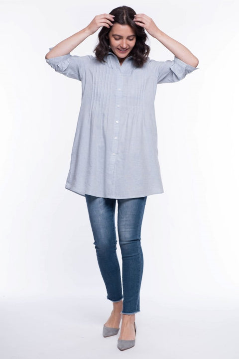 Linen Blend Anna Shirt - Breathable Naturals | Glam & Fame Clothing
