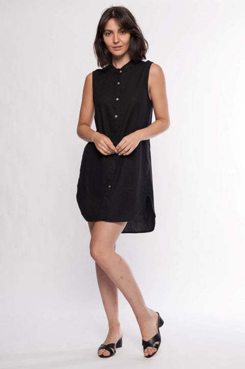 Linen Blend Dress - Breathable Naturals | Glam & Fame Clothing