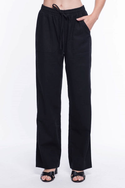 Linen Blend Relaxed Fit Pants - Breathable Naturals | Glam & Fame Clothing