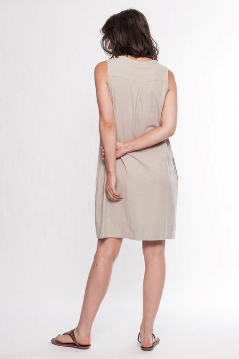 Linen Blend Shift Dress - Breathable Naturals | Glam & Fame Clothing
