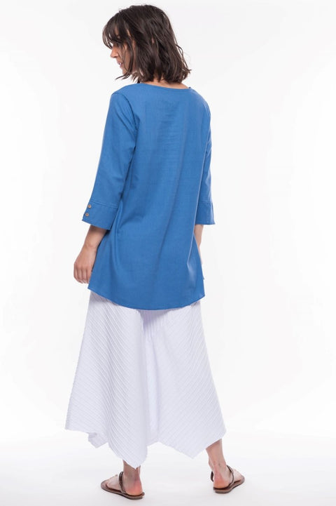 Linen Blend Tunic - Breathable Naturals | Glam & Fame Clothing