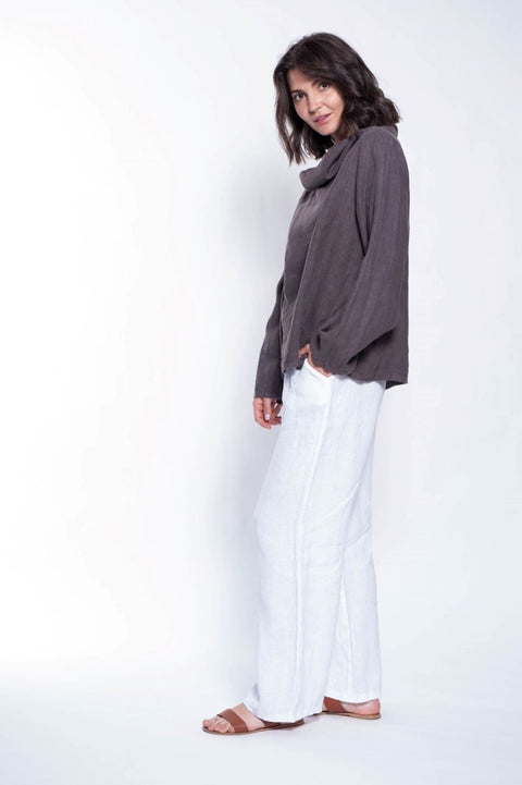 Linen Etta Shirt - Breathable Naturals | Glam & Fame Clothing