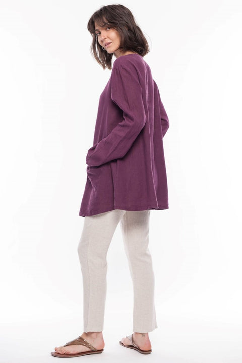 Linen Jupiter Jacket - Breathable Naturals | Glam & Fame Clothing