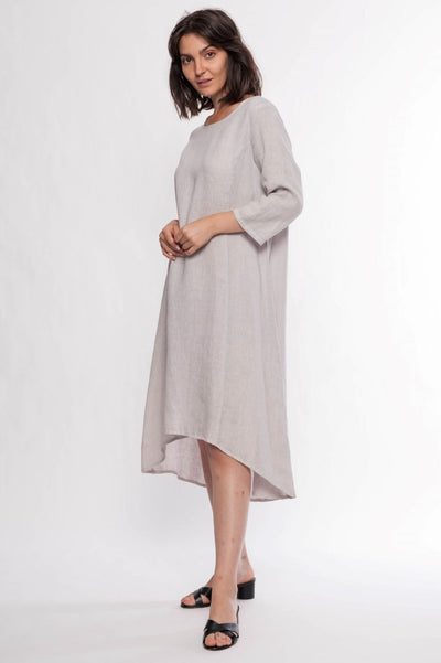 Linen Premium Washed Dress - Breathable Naturals | Glam & Fame Clothing