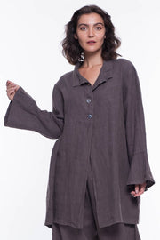 Linen Sabina Jacket - Breathable Naturals | Glam & Fame Clothing