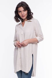 St. Lucia Linen Tunic - Breathable Naturals | Glam & Fame Clothing