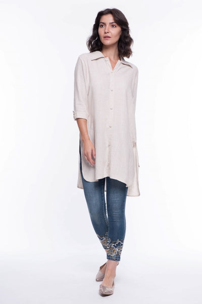 Linen St. Lucia Tunic - Breathable Naturals | Glam & Fame Clothing