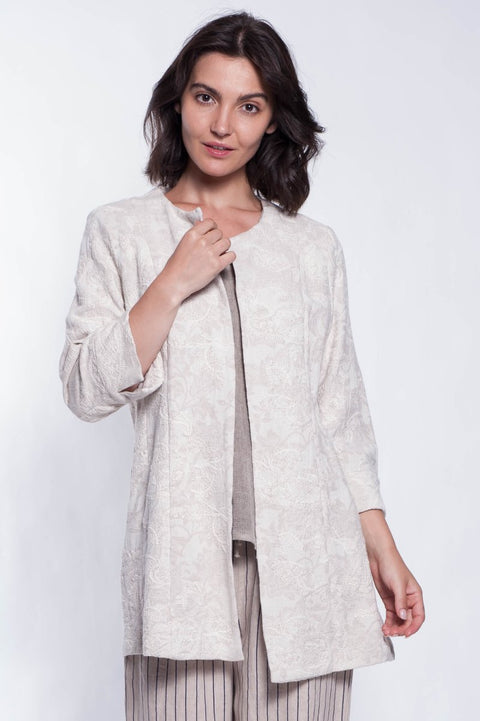 Linen Tangiers Jacket - Breathable Naturals | Glam & Fame Clothing