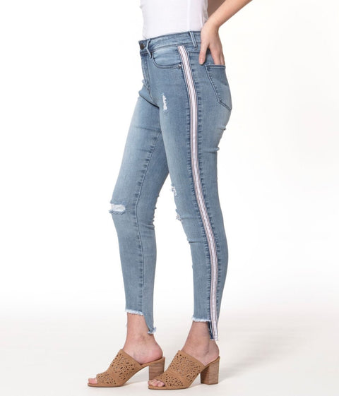 Alexa Bay High Rise Signature Skinny Jeans - Glam & Fame | Breathable Naturals