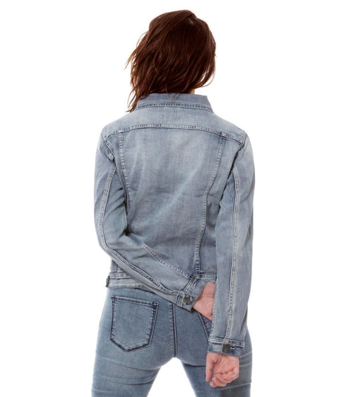 Classic Light Wash Denim Jacket - Glam & Fame | Breathable Naturals
