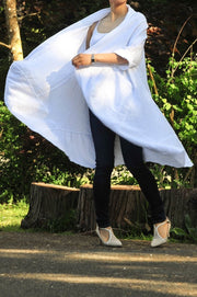 Exclusive Made in Italy Long Linen Kimono - Glam & Fame | Breathable Naturals
