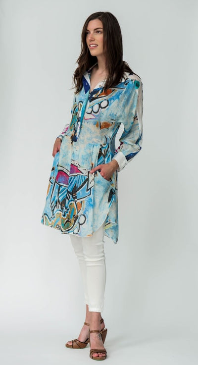 Long Shirt Print - Breathable Naturals | Glam & Fame Clothing