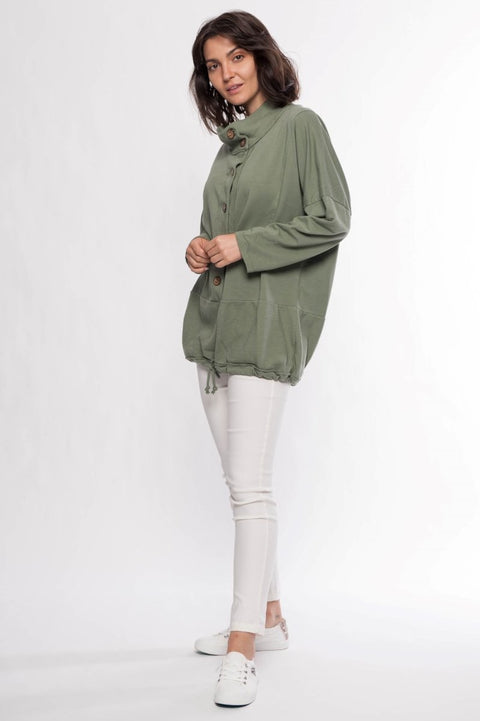 Made in Italy Cotton French Terry Jacket - Breathable Naturals | Glam & Fame Clothing