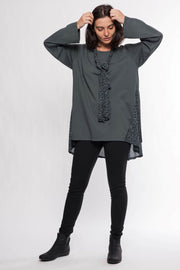 Made in Italy Cotton French Terry Tunic and Scarf - Breathable Naturals | Glam & Fame Clothing