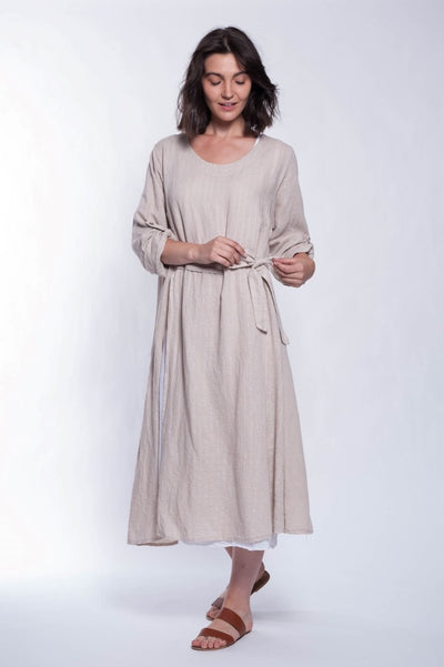 Made in Italy Linen 2 Piece Dress - Breathable Naturals | Glam & Fame Clothing
