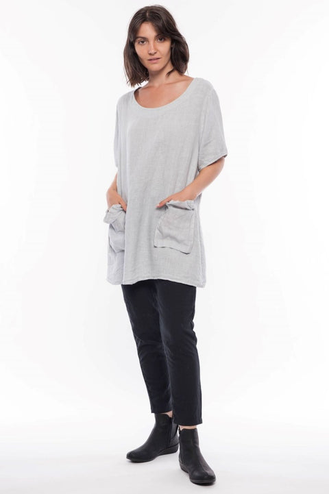 Made in Italy Linen Exclusive Tunic with Pockets - Breathable Naturals | Glam & Fame Clothing
