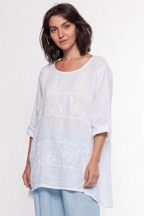Made in Italy Linen Top - Breathable Naturals | Glam & Fame Clothing