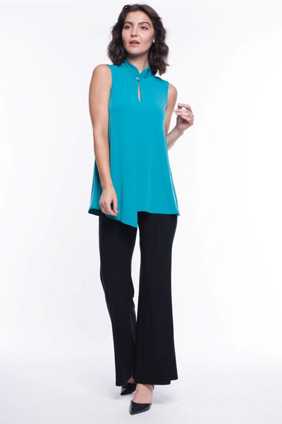 Mandarin Collar Button Blouse - Breathable Naturals | Glam & Fame Clothing