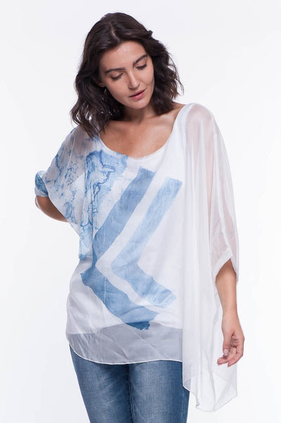 Marble Dip Dye Blouse - Breathable Naturals | Glam & Fame Clothing