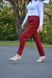 Straight Leg Pants in Crushed Cotton - Glam & Fame | Breathable Naturals