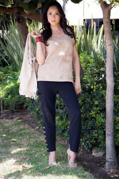 Salvia Cotton Pants - Glam & Fame | Breathable Naturals