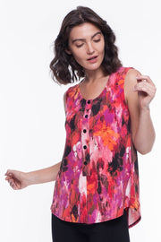 Megan Sleeveless Button Blouse - Breathable Naturals | Glam & Fame Clothing