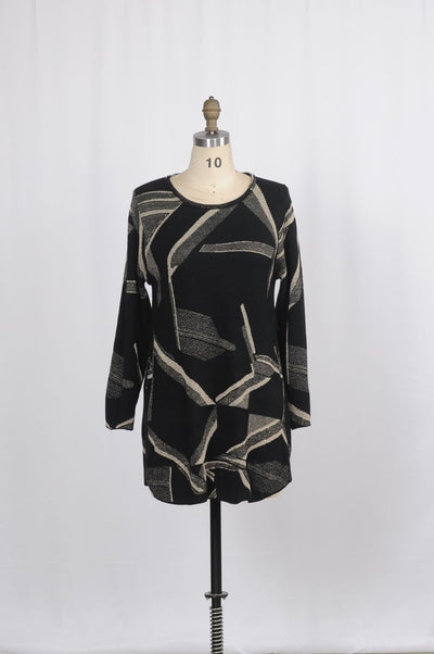 Minkas Tunic Metallic Print - Glam & Fame | Luxury Boutique-Minkas