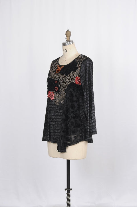 Velvet Flocking Tunic - Glam & Fame | Breathable Naturals