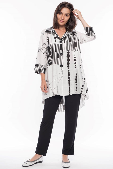 Mixed Media Blouse - Breathable Naturals | Glam & Fame Clothing