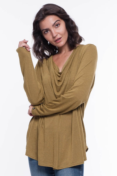 Modal Cowl Top - Breathable Naturals | Glam & Fame Clothing