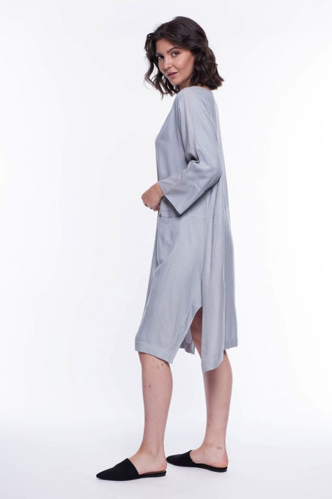 Modern Contemporary Midi Dress - Breathable Naturals | Glam & Fame Clothing