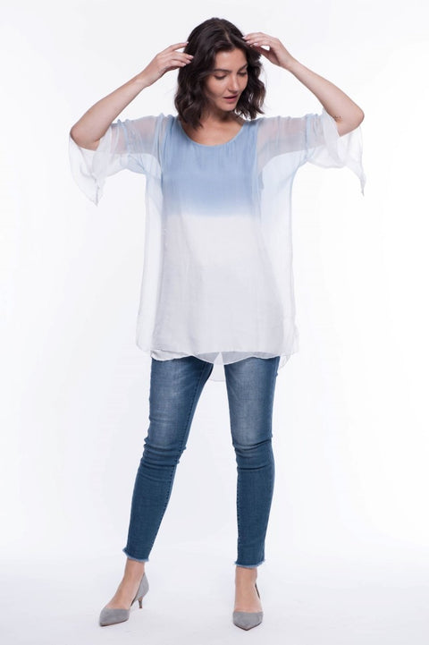Ombre Dip Dye Top - Breathable Naturals | Glam & Fame Clothing
