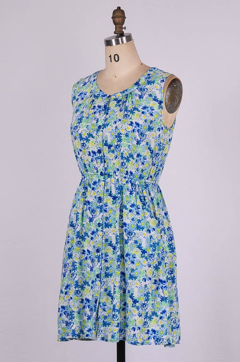 G&F Paige Cotton Blend Summer Dress in Floral Print - Glam & Fame | Breathable Naturals