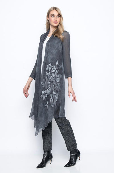 Picadilly Chiffon Trimmed Duster - Glam & Fame | Luxury Boutique
