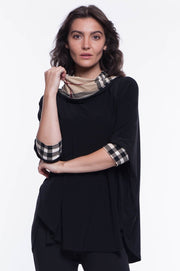 Plaid Blouse - Breathable Naturals | Glam & Fame Clothing