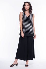 Polka Dot Sleeveless Blouse - Breathable Naturals | Glam & Fame Clothing
