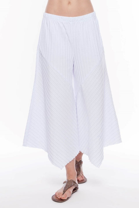 Premium Washed Cotton Gaucho Pants - Breathable Naturals | Glam & Fame Clothing