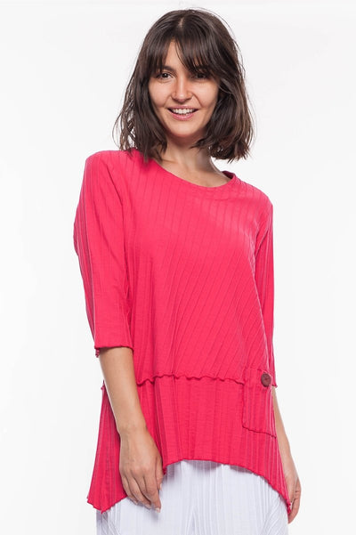 Premium Washed Cotton Pocket Tunic - Breathable Naturals | Glam & Fame Clothing