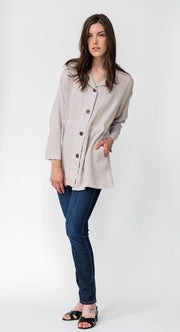 Premium Washed Linen Trench Coat - Breathable Naturals | Glam & Fame Clothing