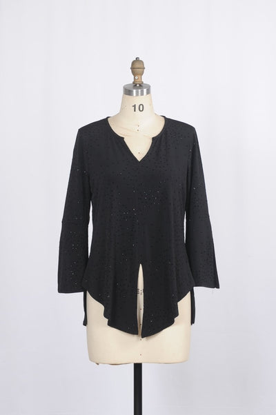 Shimmering Lyla Blouse with Bell Sleeves - Glam & Fame | Breathable Naturals