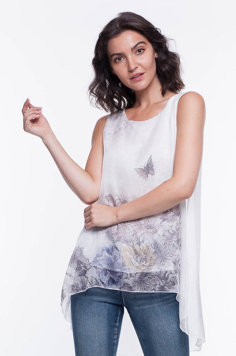 Printed Meadow Top - Breathable Naturals | Glam & Fame Clothing