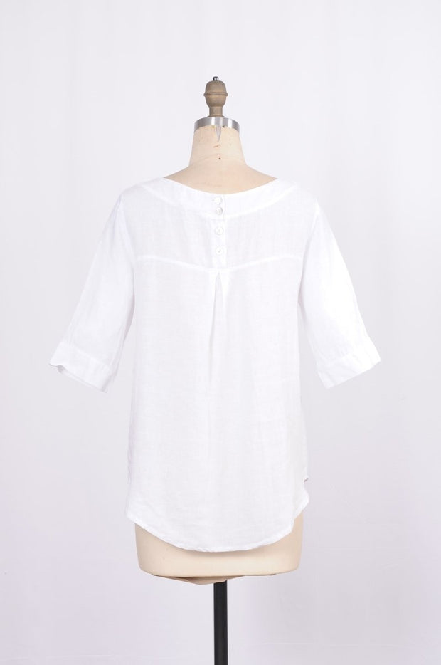 Pure Venice Linen Blouse - Glam & Fame | Luxury Boutique