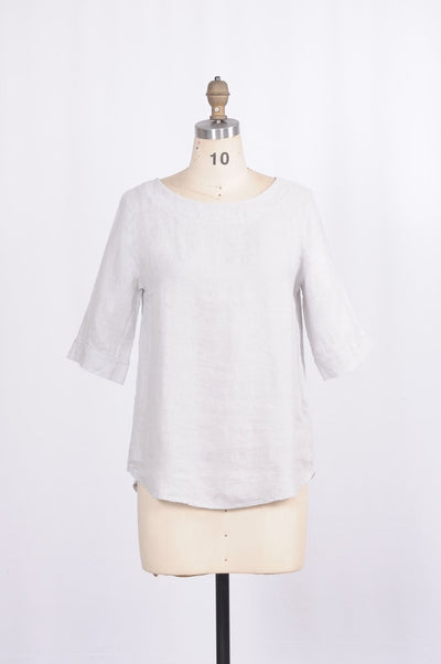Made in Italy French Terry Linen Blouse - Glam & Fame | Breathable Naturals