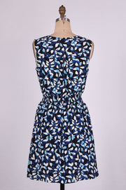G&F Sandy Cotton Blend Summer Dress in Acacia Print - Glam & Fame | Breathable Naturals