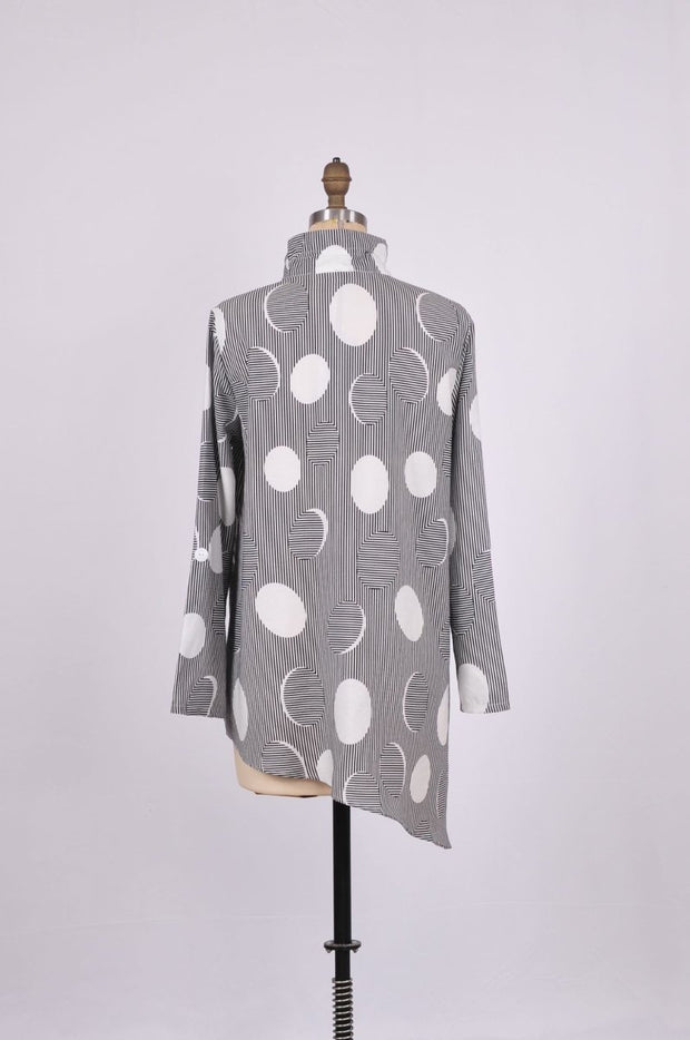 Shana Apparel Printed Shirt with Asymmetrical Hem - Glam & Fame | Luxury Boutique