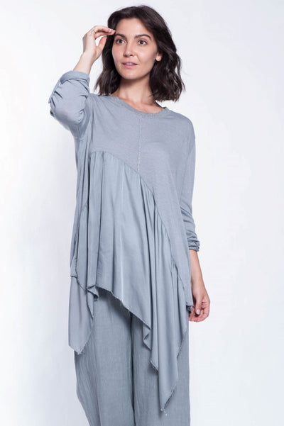 Signature Italian Satin and Lurex Tunic - Breathable Naturals | Glam & Fame Clothing