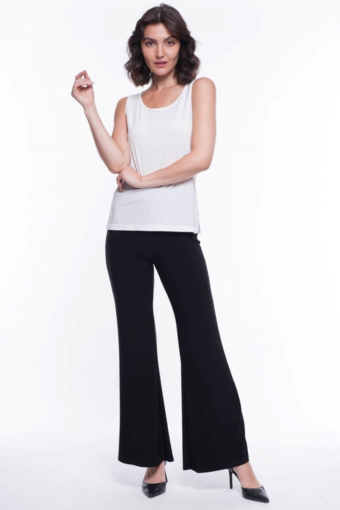 Sleeveless Top with Side Slits - Breathable Naturals | Glam & Fame Clothing