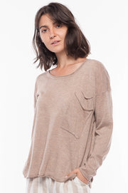 Sweater Top - Breathable Naturals | Glam & Fame Clothing
