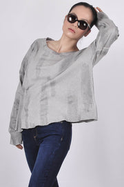 Made in Italy Cotton Brushstroke Terry Top - Glam & Fame | Breathable Naturals