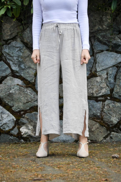 Exclusive Made in Italy Relaxed Linen Pants - Glam & Fame | Breathable Naturals